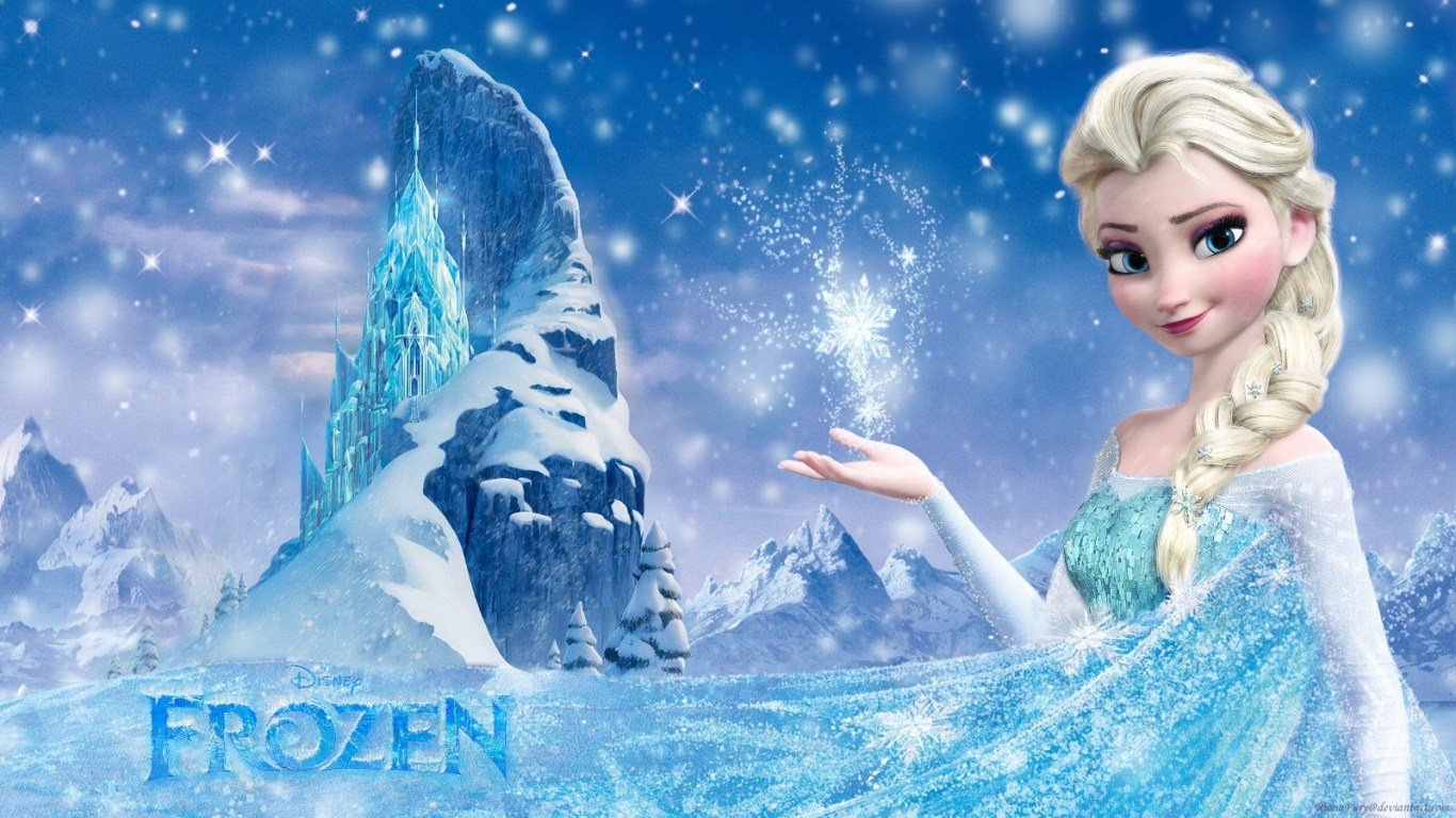 Elsa Snow Queen Desktop Wallpapers Toptenpackcom 1366x768