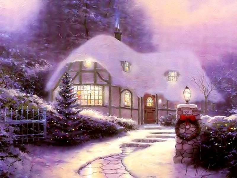 CHRISTMAS HOUSE COUNTRY HOME Architecture Houses HD Desktop 800x600