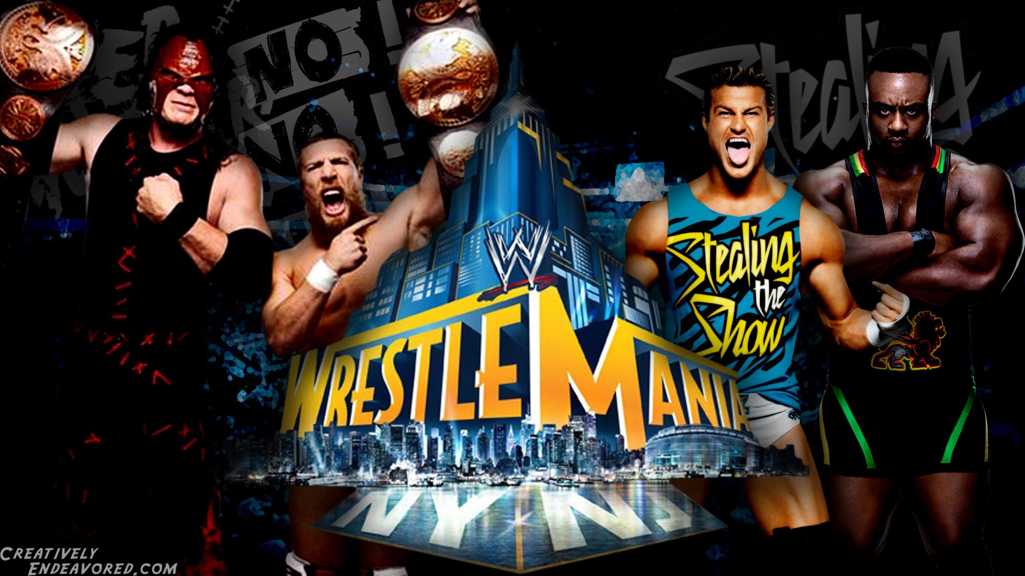 Weekend WrestleMania Wallpaper Team Hell No vs Dolph Ziggler Big E 2000x1124