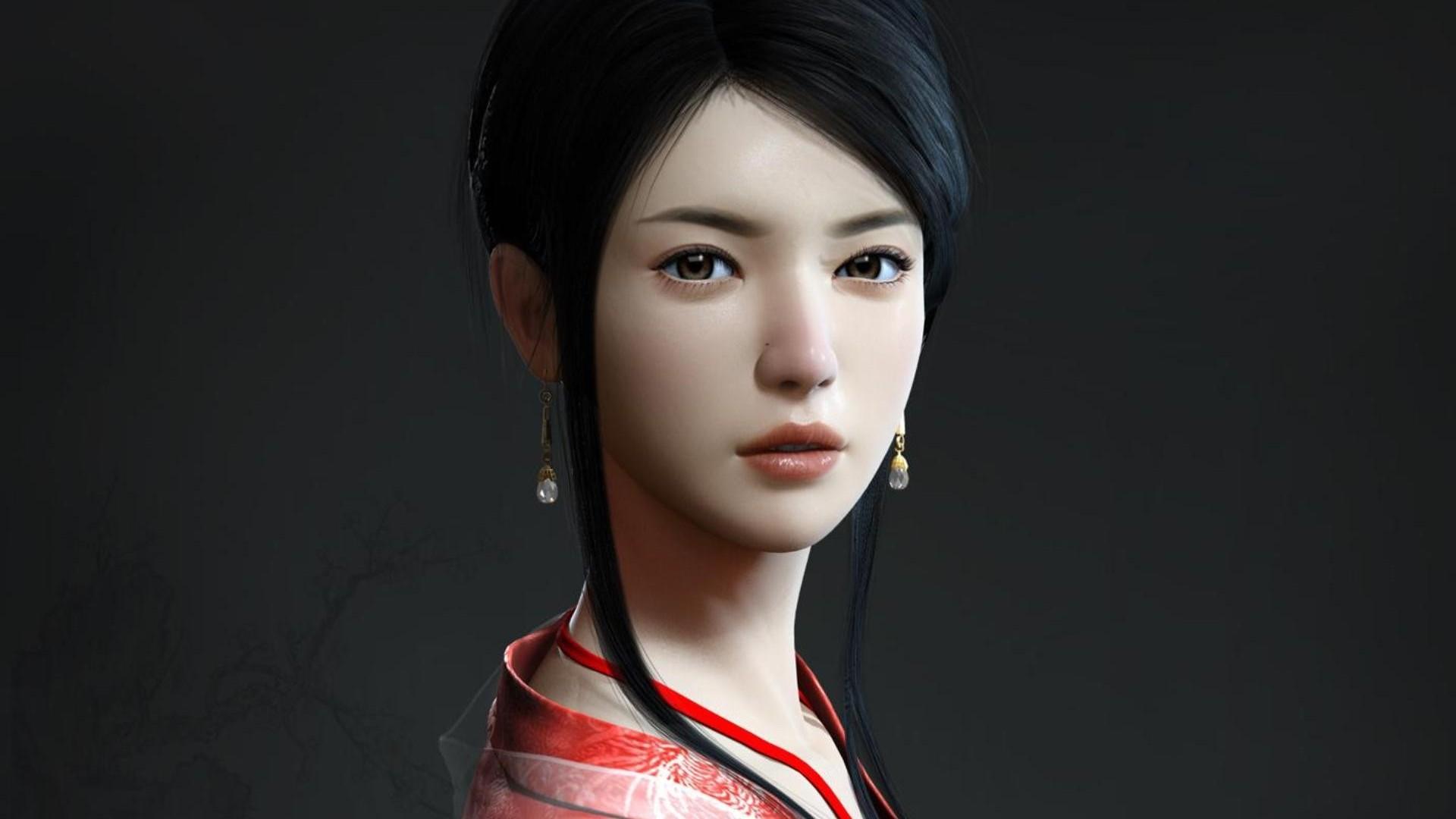 Download Beautiful geisha wallpaper 1920x1080