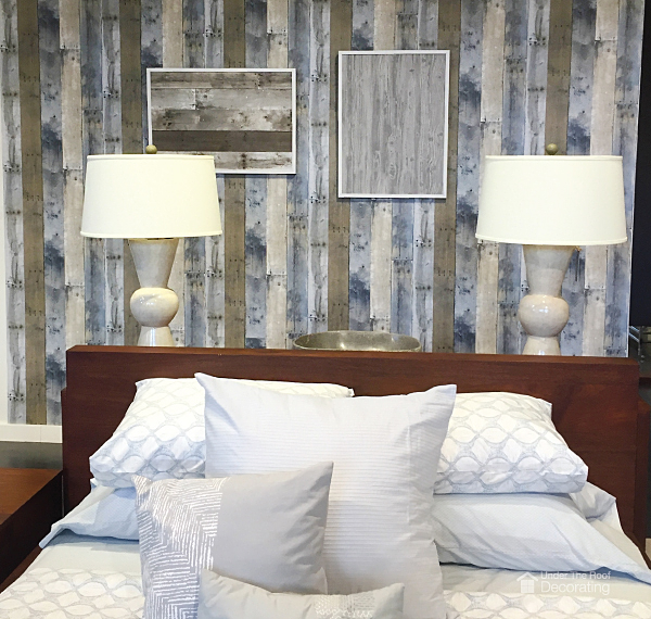 amazing how real this faux repurposed wood adhesive wallpaper looks 600x570