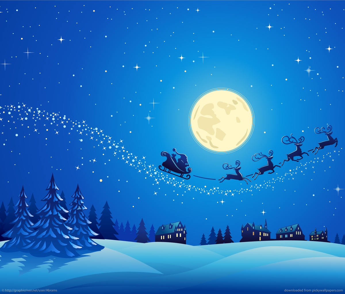 Collection of Christmas Winter Scenes Wallpaper on 1200x1024