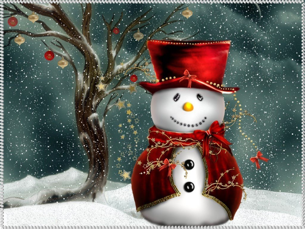 Christmas Computer Wallpapers Christmas Snowman 1024x768