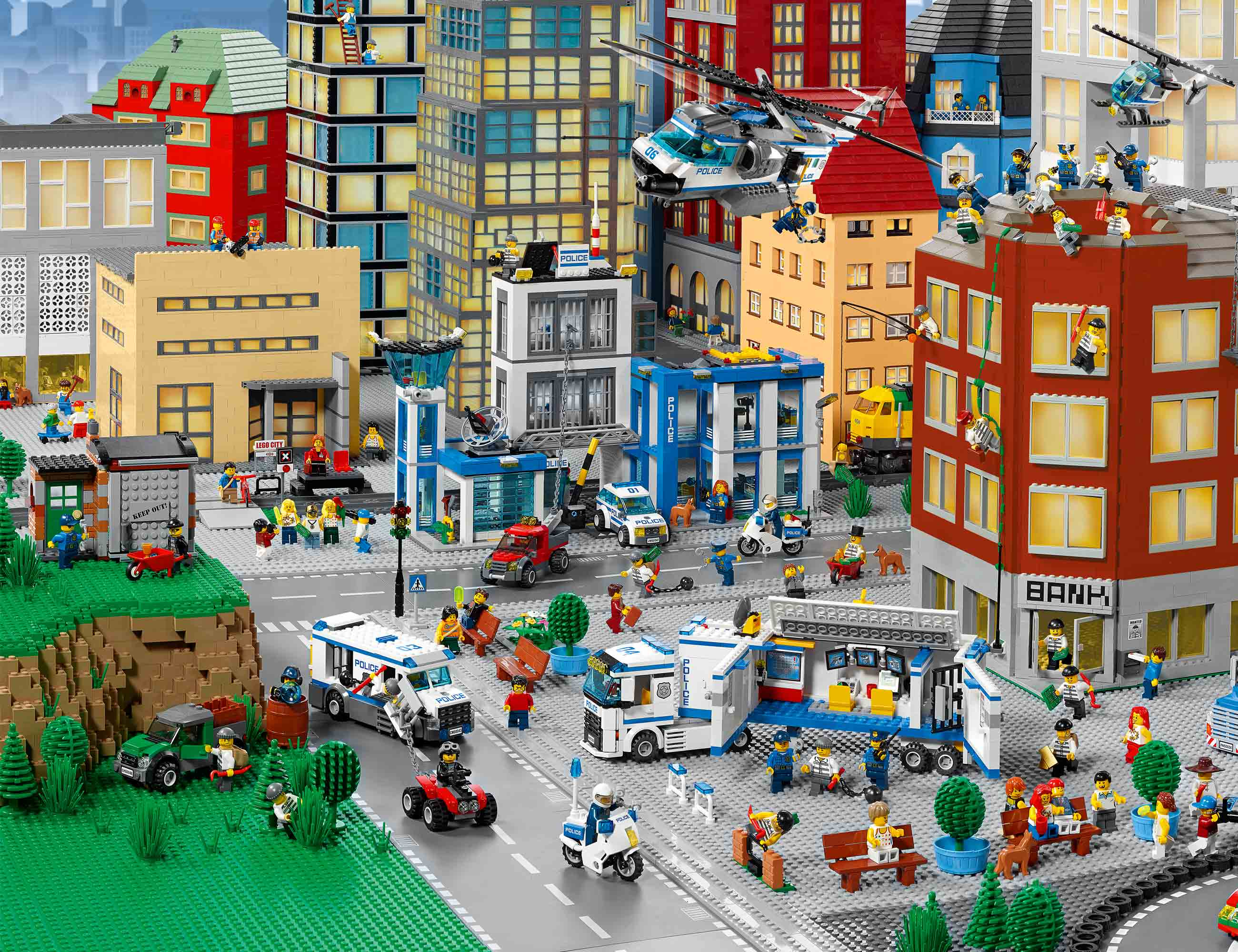 how to build a huge lego city