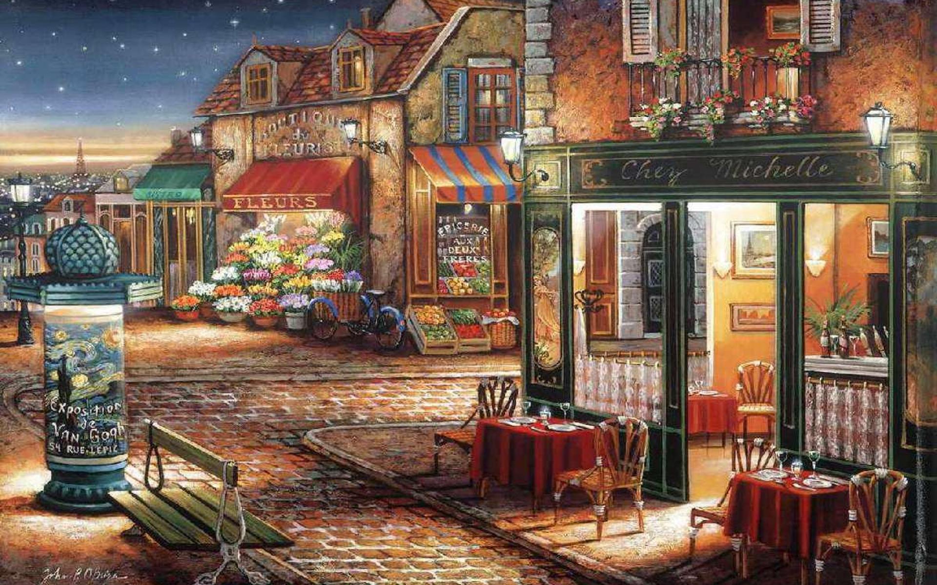 Paris Cafe Wallpaper - WallpaperSafari