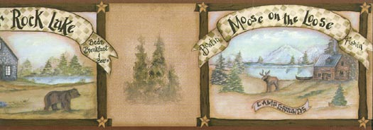 Bear Deer and Moose Wall Paper Border Wallpaper Border   Wallpaper 525x184