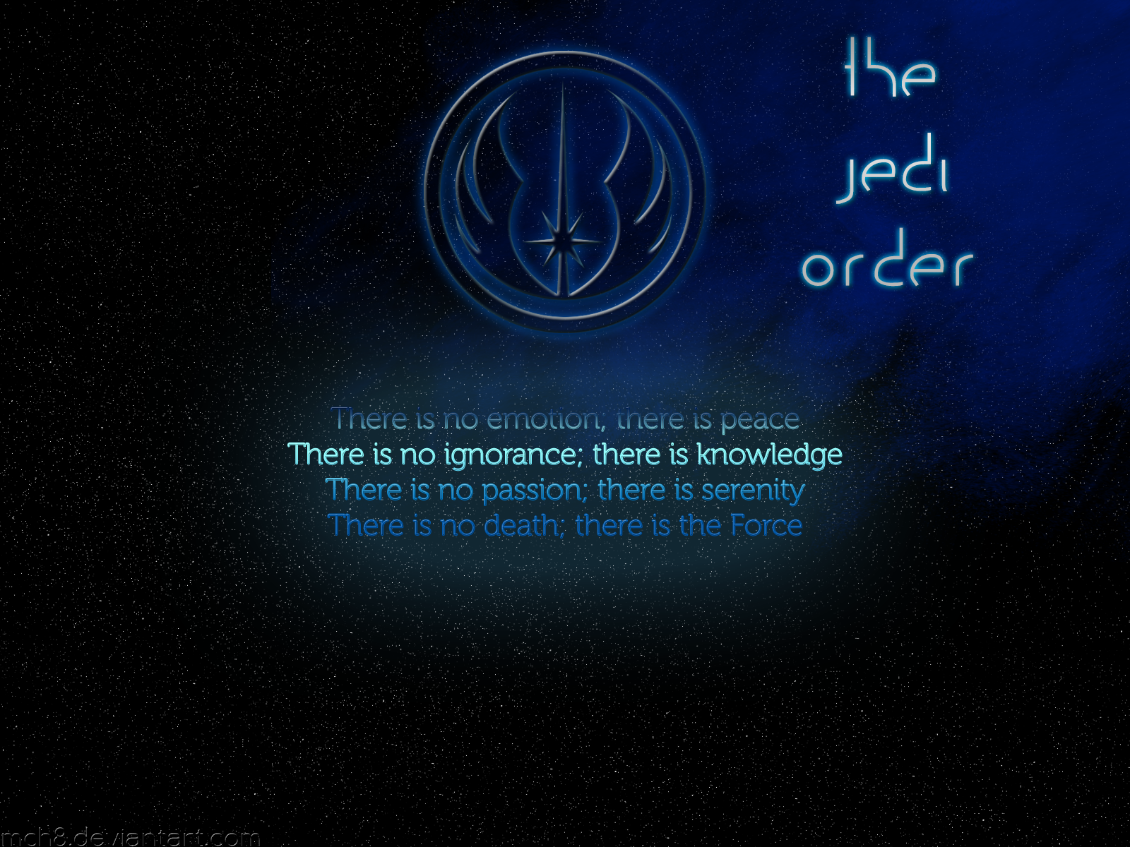 Jedi Order Logo Wallpaper The jedi order by mch8 1600x1200