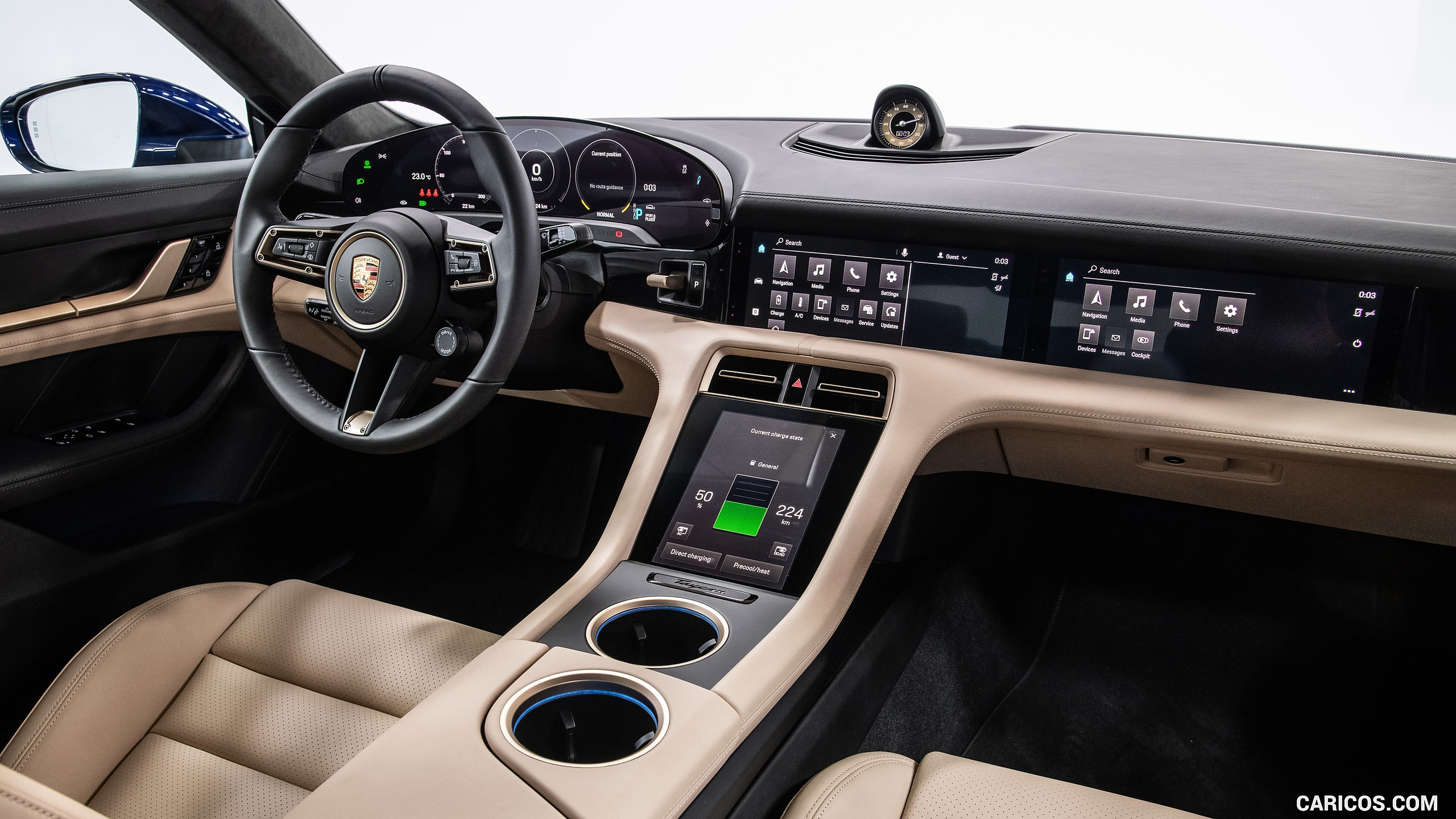 2020 Porsche Taycan Turbo   Interior HD Wallpaper 47 2560x1440