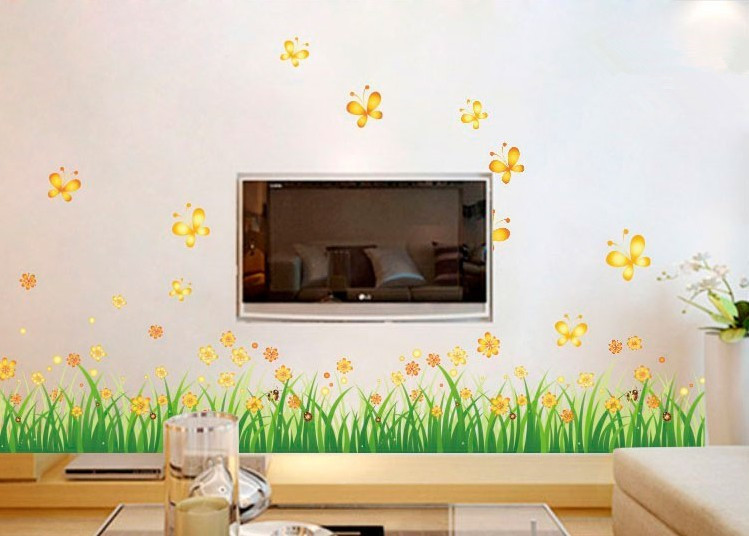 wall stickers on a wall home decor flower butterfly desktop wallpaper 749x536