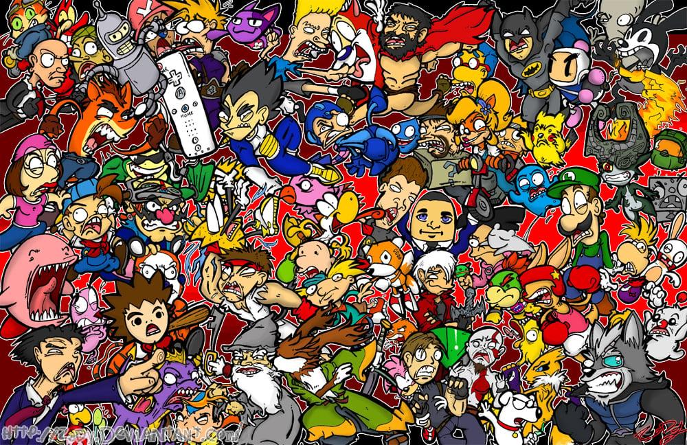 Nintendo Characters Wallpaper Wallpapersafari