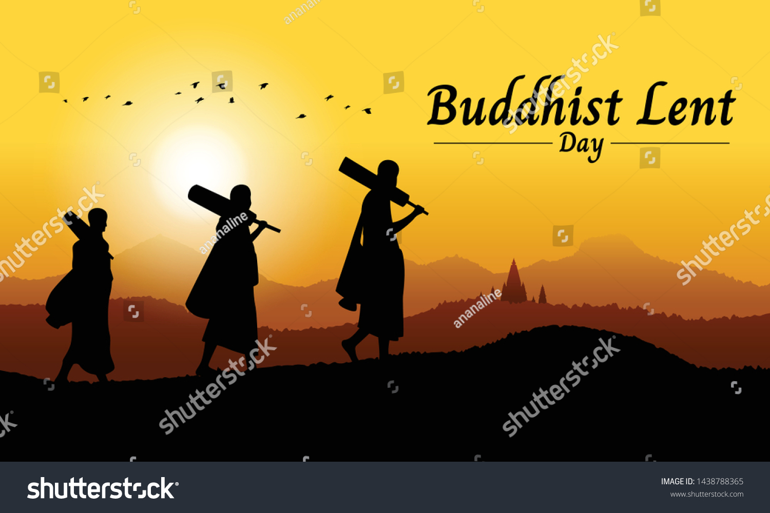 The Buddhist Lent Day Stock Vectors Images Vector Art 1500x1000