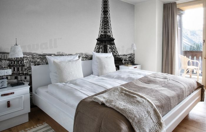 Paris Black and White Wallpaper Removable Wallpaper for sale in 700x450