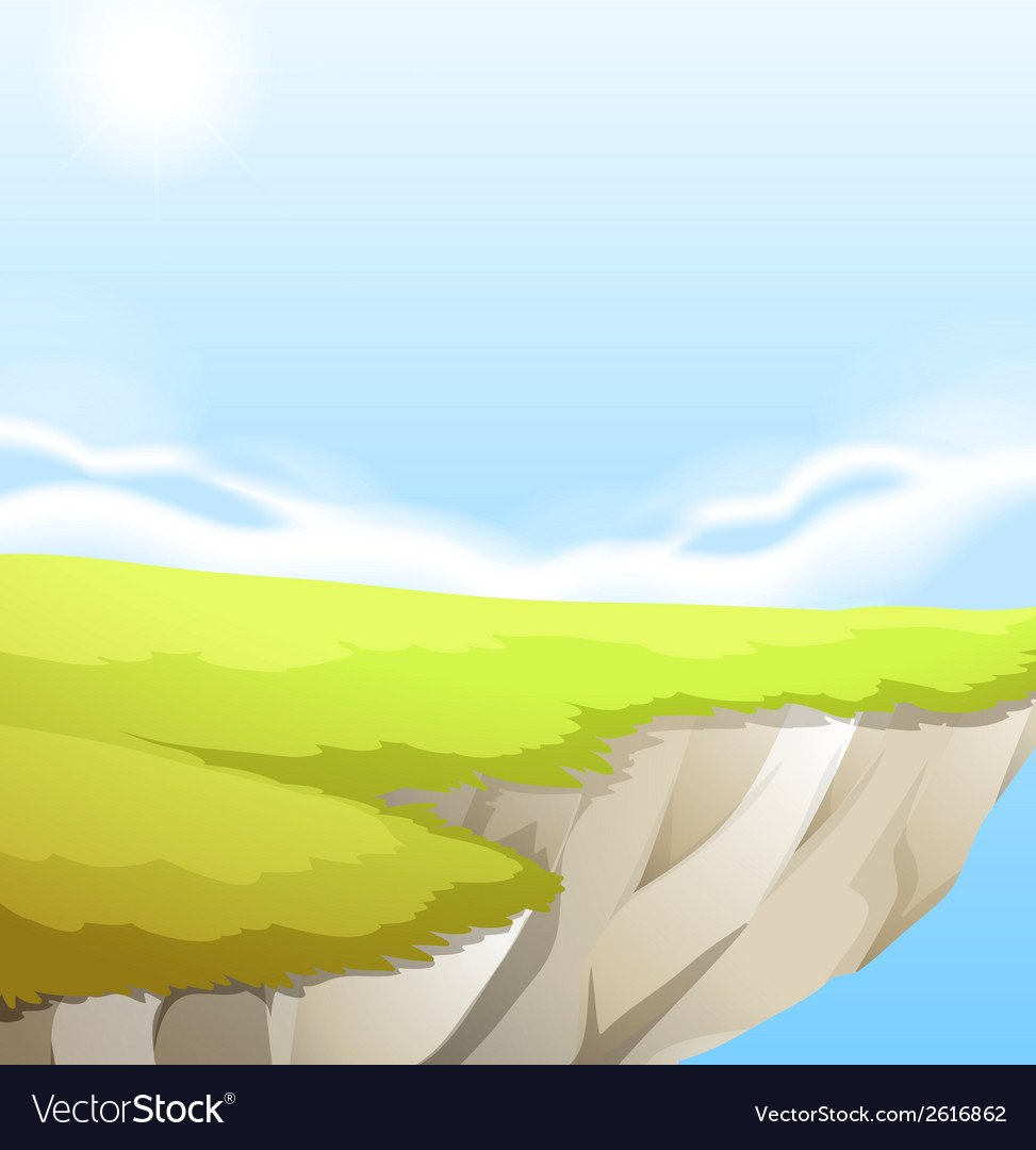 Cliff background design Royalty Vector Image 973x1080