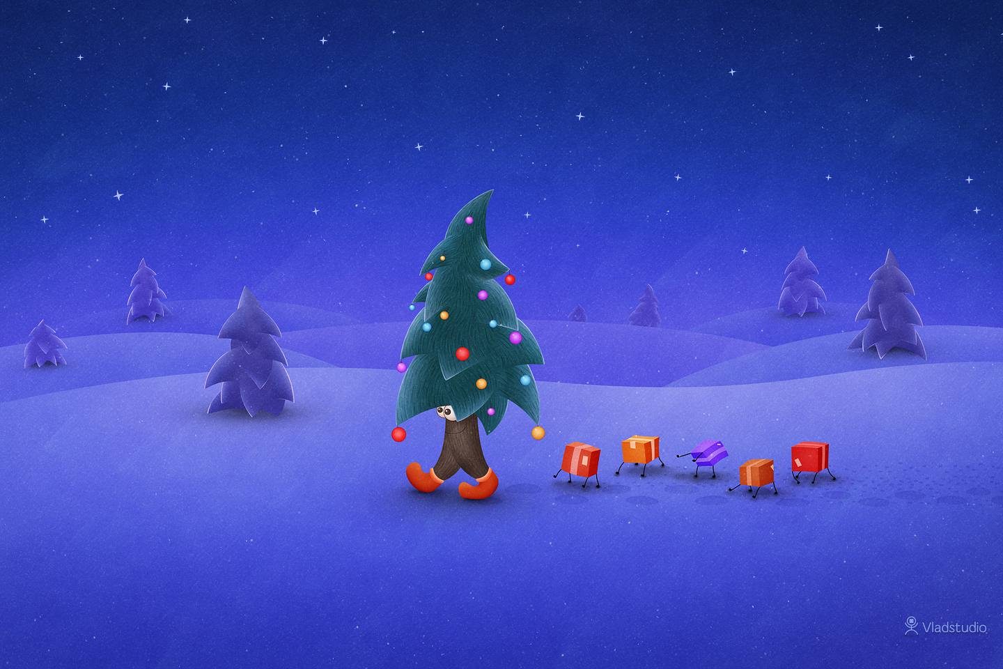 Christmas Desktop Wallpaper for Mac Windows and Linux 1440x960