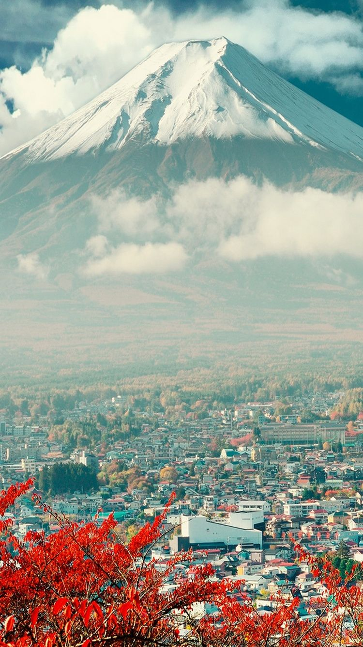 Download Mount Fuji Japan City iPhone 6 Wallpaper in 2019 Iphone 750x1334