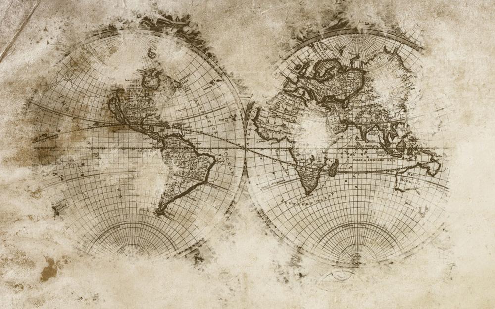 Old World Map Wallpaper Murals WallpaperSafari - Old world map wallpaper for walls