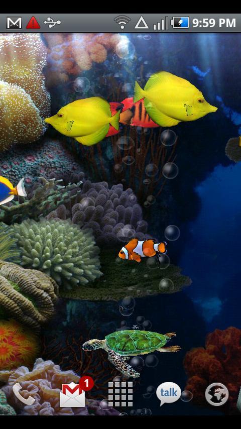 Aquarium Live Wallpaper 266 Android apk download 480x854