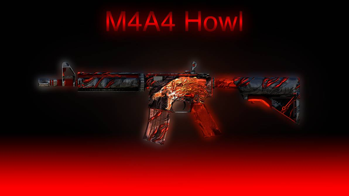 M4A4 Howl Wallpaper by Cumill11 1192x670