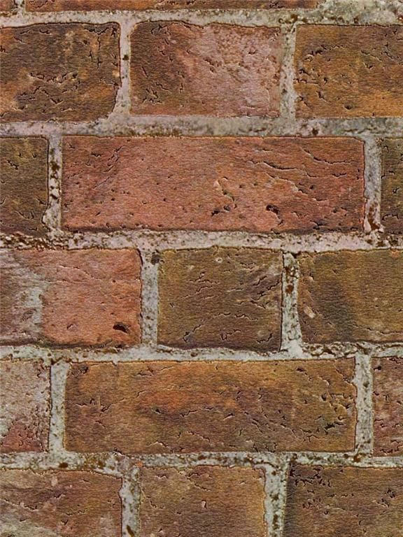 faux brick wallpaper textured red 2016   White Brick Wallpaper 576x768