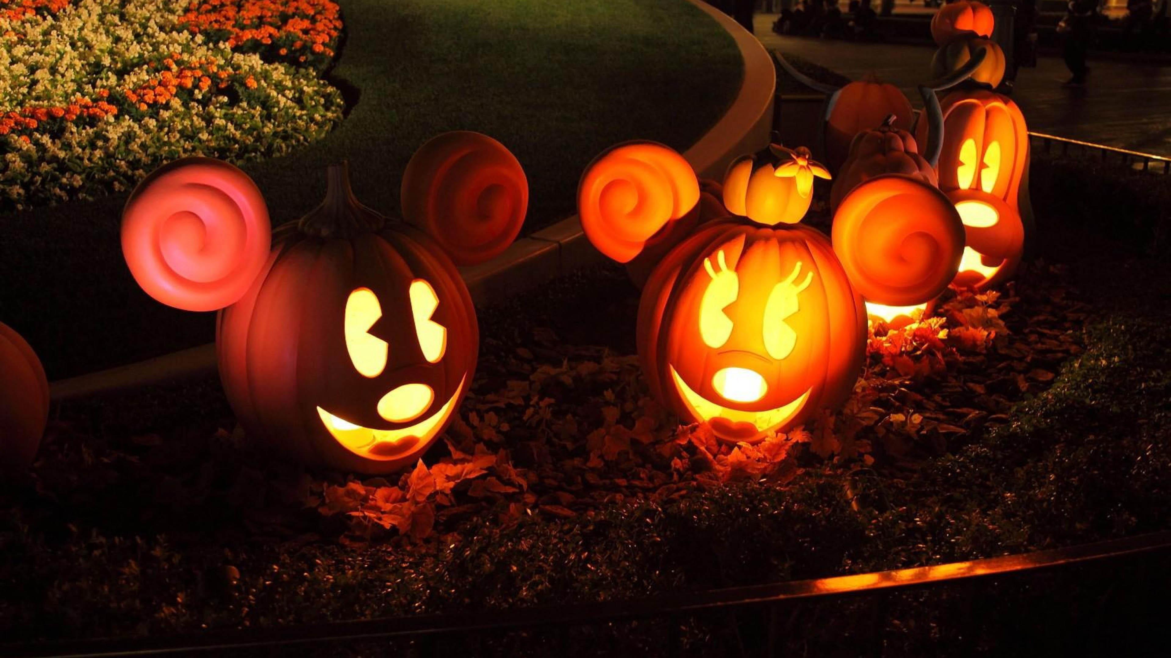 Disney Pumpkins Mickey Minnie Goofy   3840x2160   4K 169 Ultra 3840x2160