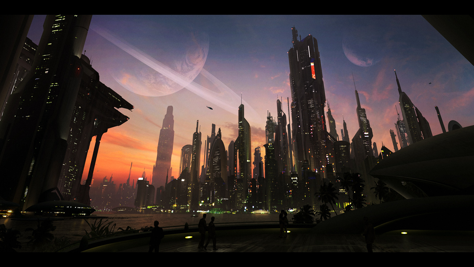 cityscapes futuristic wallpaper 1900x1041 - photo #12