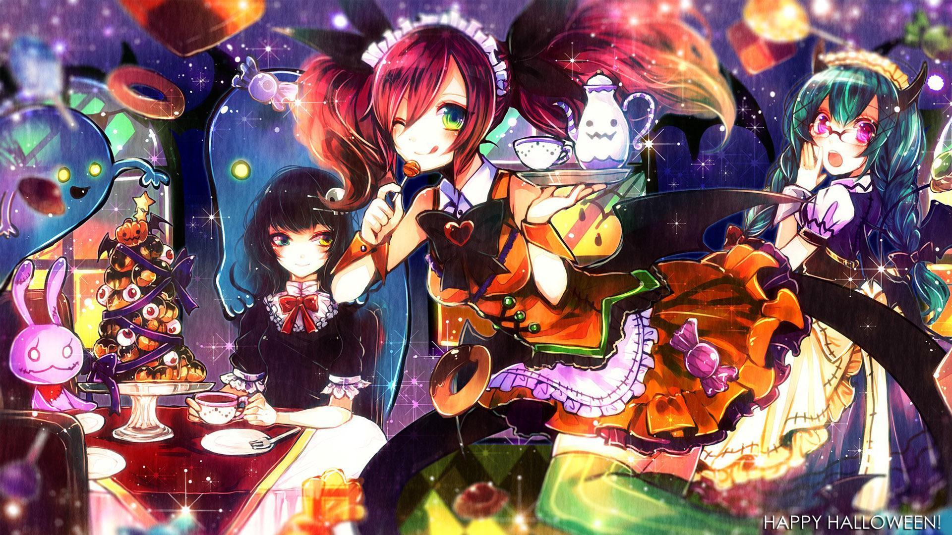 Free Download Anime Halloween Wallpaper HD