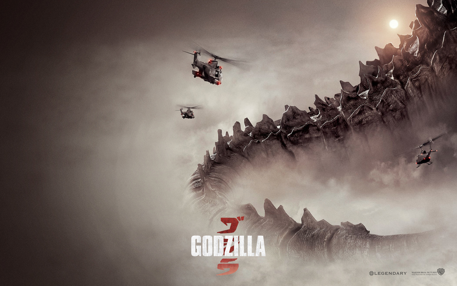 Four posters from the new Godzilla movie 2014 Movie Wallpapers 1920x1200