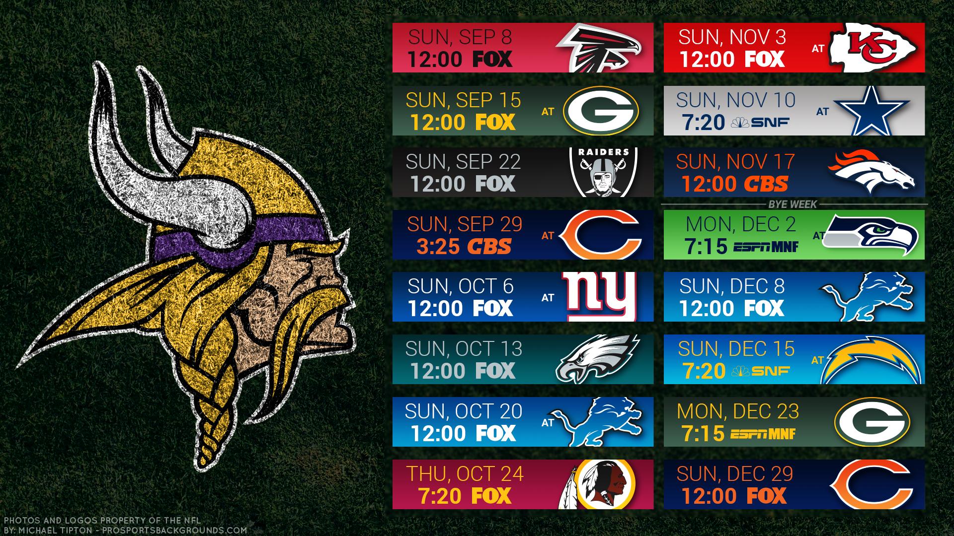 Vikings 2019 Schedule Backgrounds minnesotavikings 1920x1080
