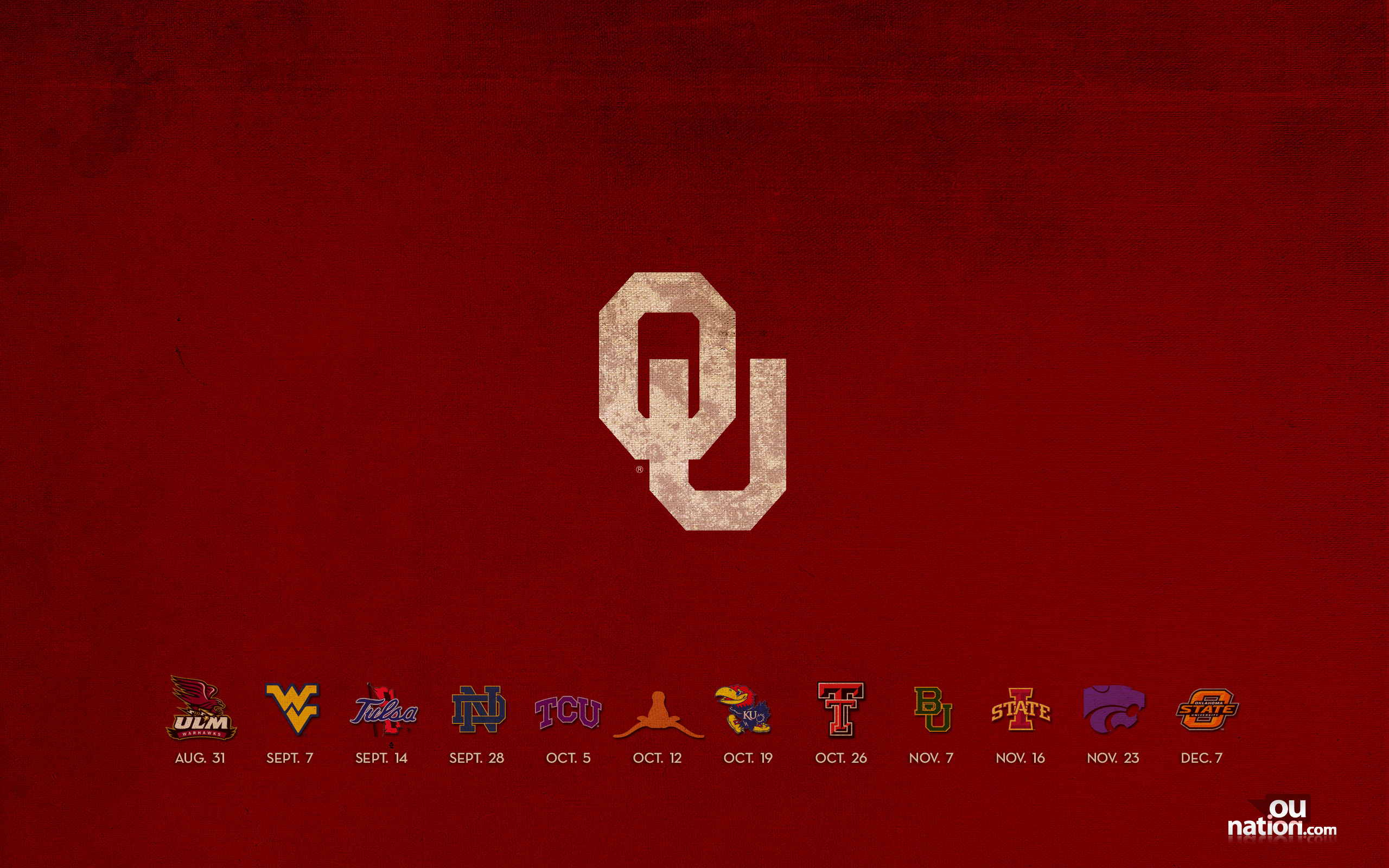 OUnationcom University of Oklahoma Themed Wallpapers 2560x1600