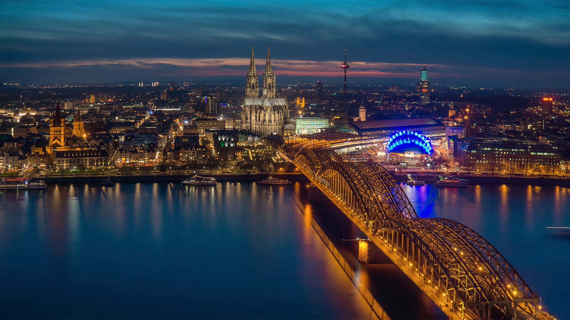 Cologne at night [1920x1080] wallpapers 1920x1080