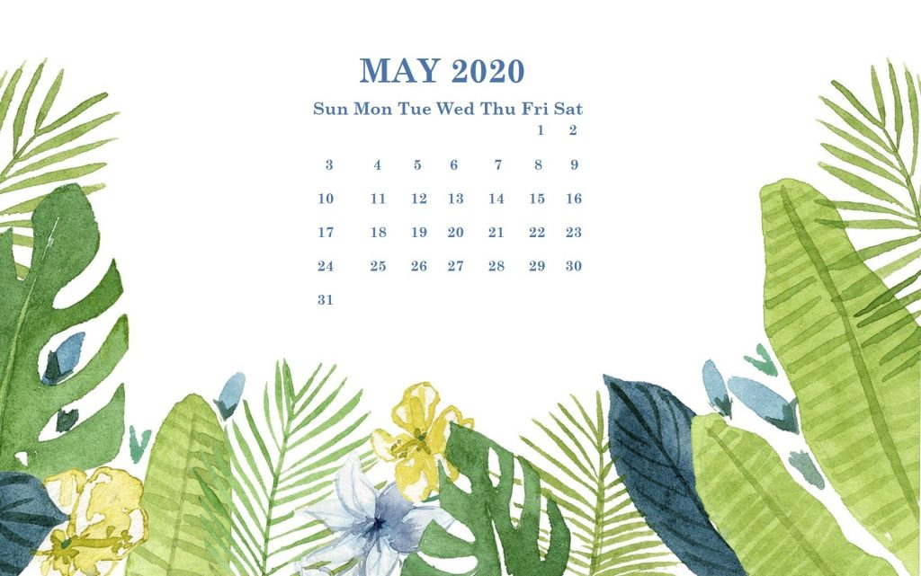 Cute May 2020 Calendar Wallpaper For Desk Floral May Calendar 1024x641