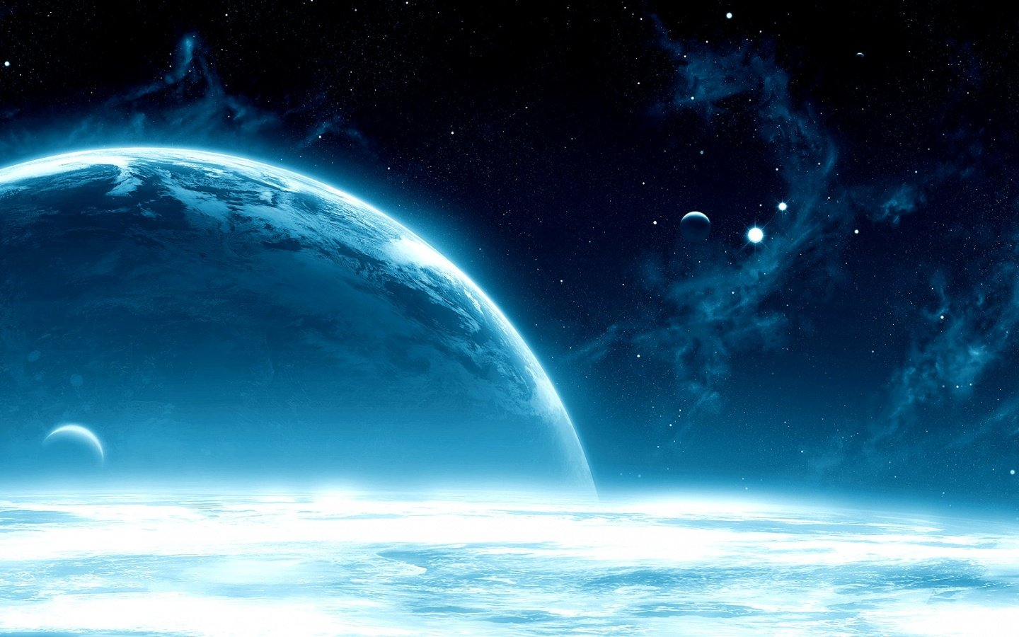 Download Deep Blue Space Wallpaper Full HD Wallpapers 1440x900