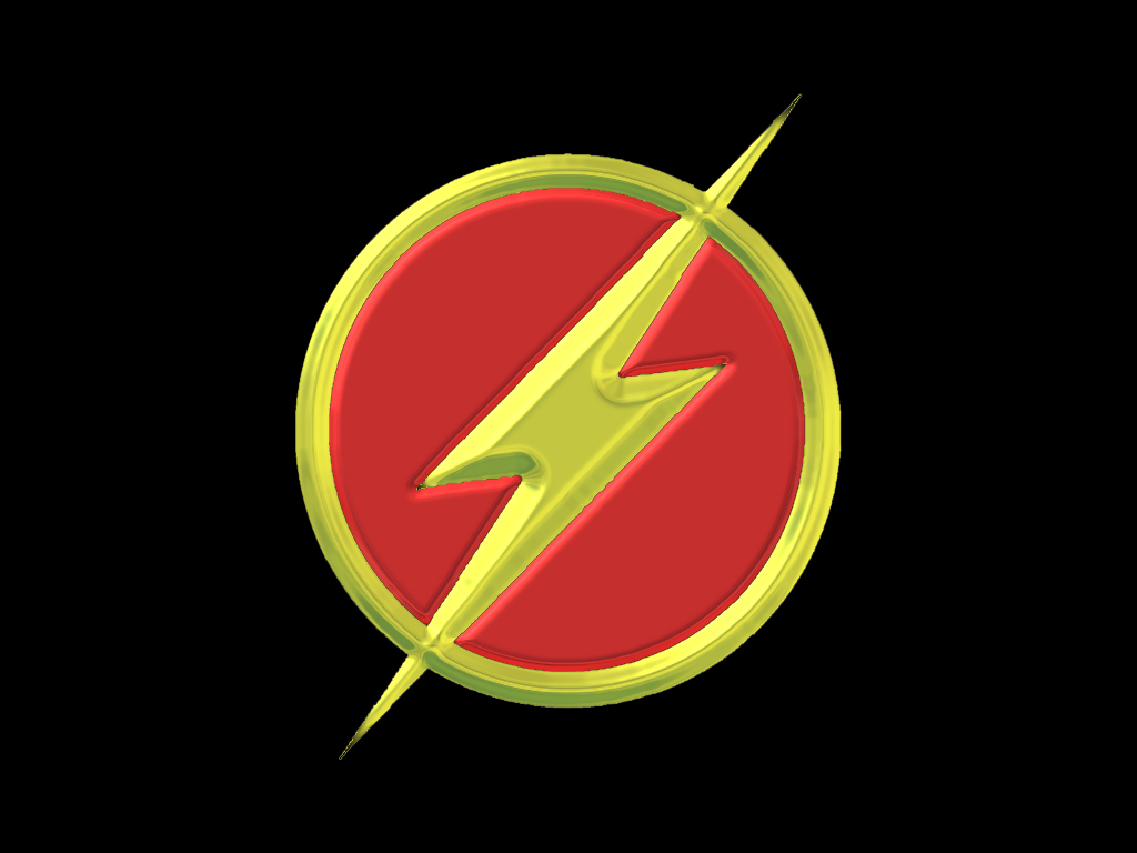 The Flash Symbol Wallpaper Animated kc flash symbol by 1024x768