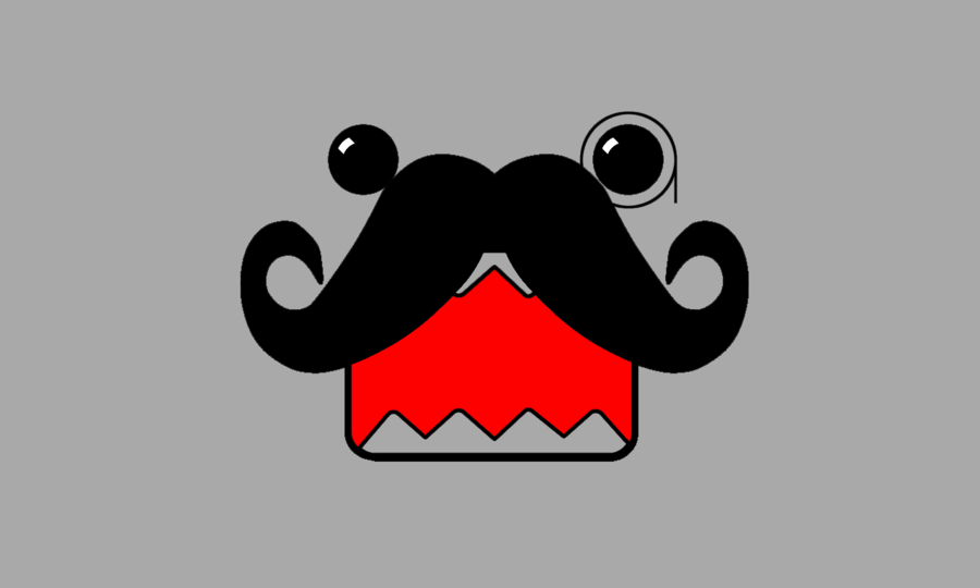 Wallpaper Domo Moustache by CooniiSweet 900x540