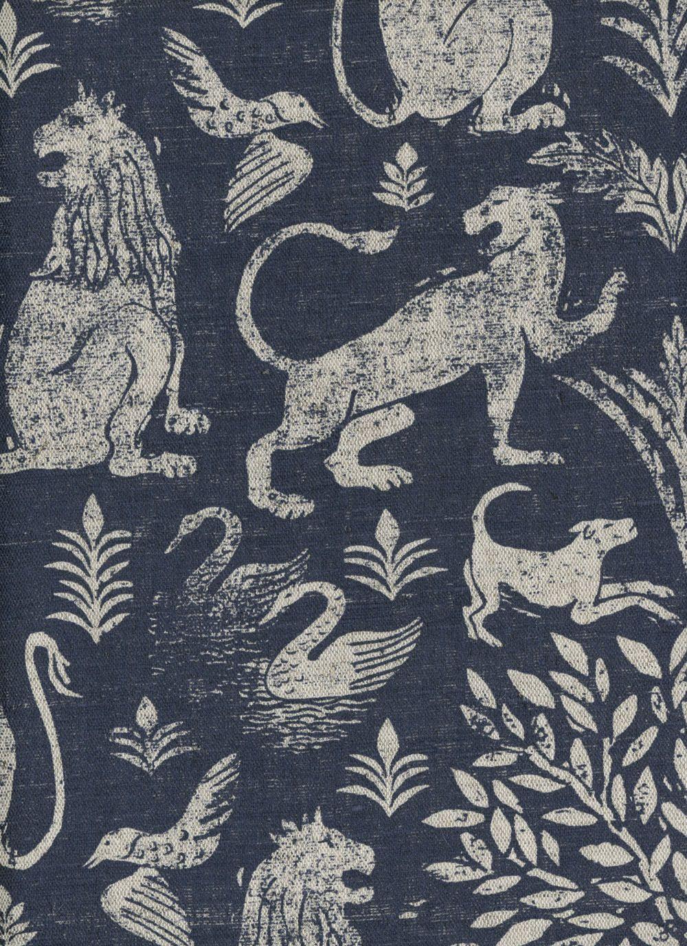 CITY OF LIONS Lindsay Alker Fabrics wallpapers Hand 1000x1376