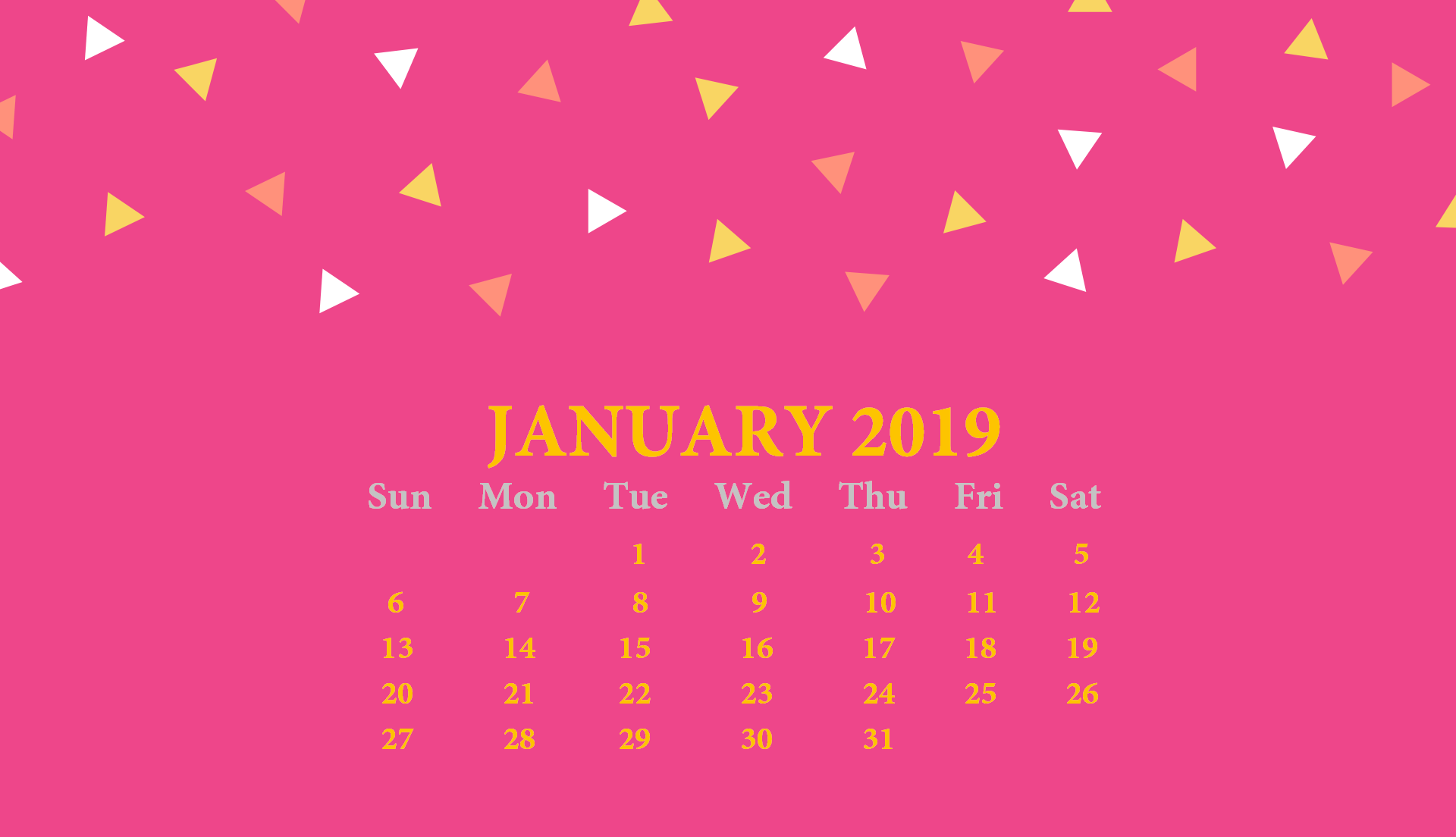 2019 Monthly HD Calendar Wallpaper Latest Calendar 1920x1104