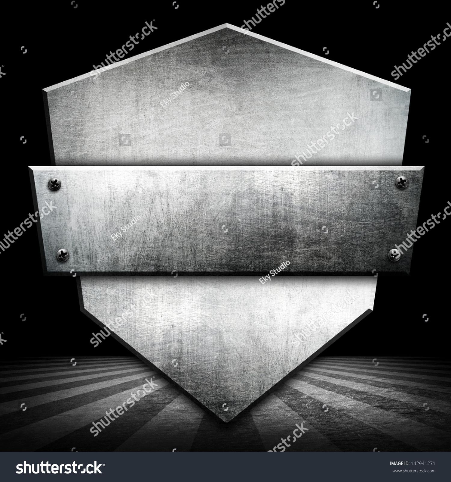 Metal Badge Background Stock Illustration 142941271 1500x1600