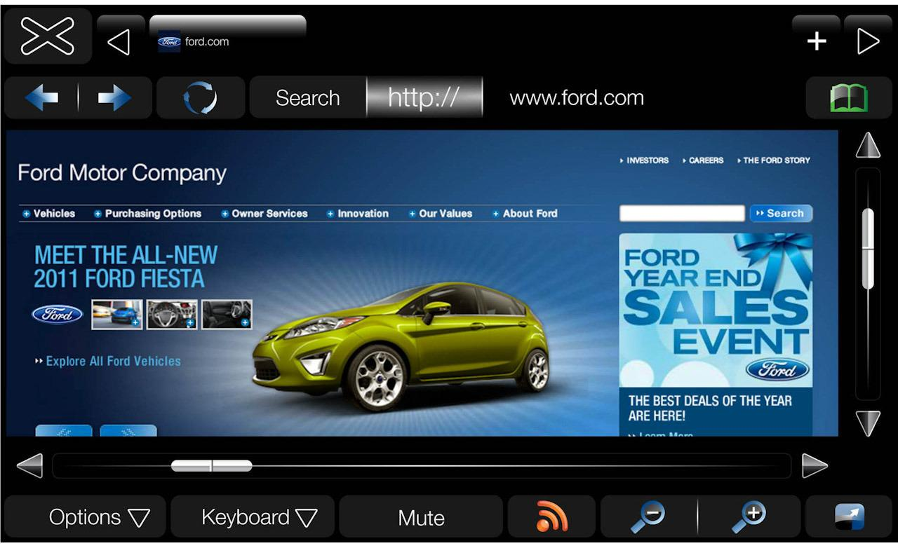 MyFord Touch internet browser display 1280x782