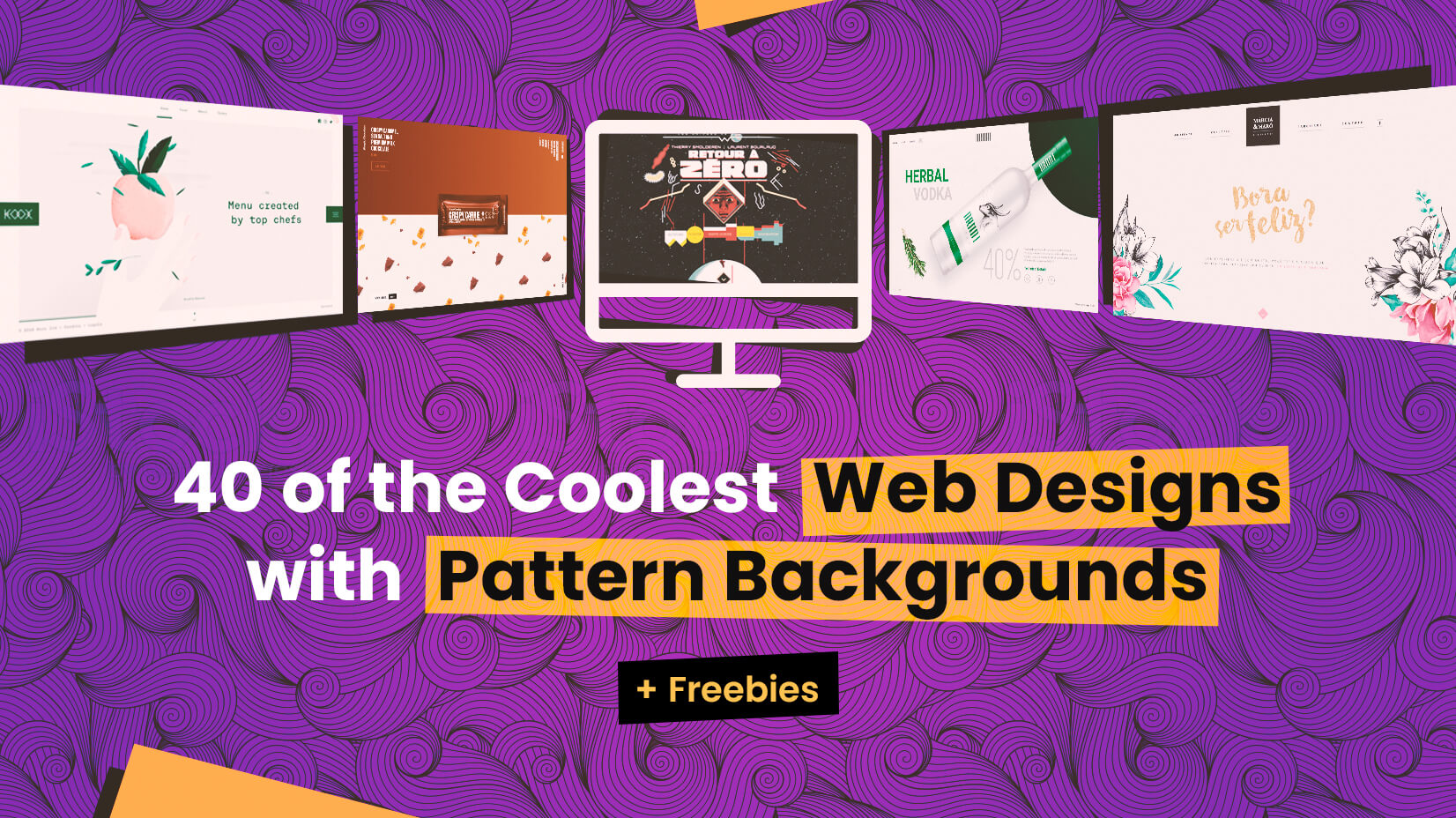40 of the Coolest Web Designs with Pattern Backgrounds Freebies 1652x928