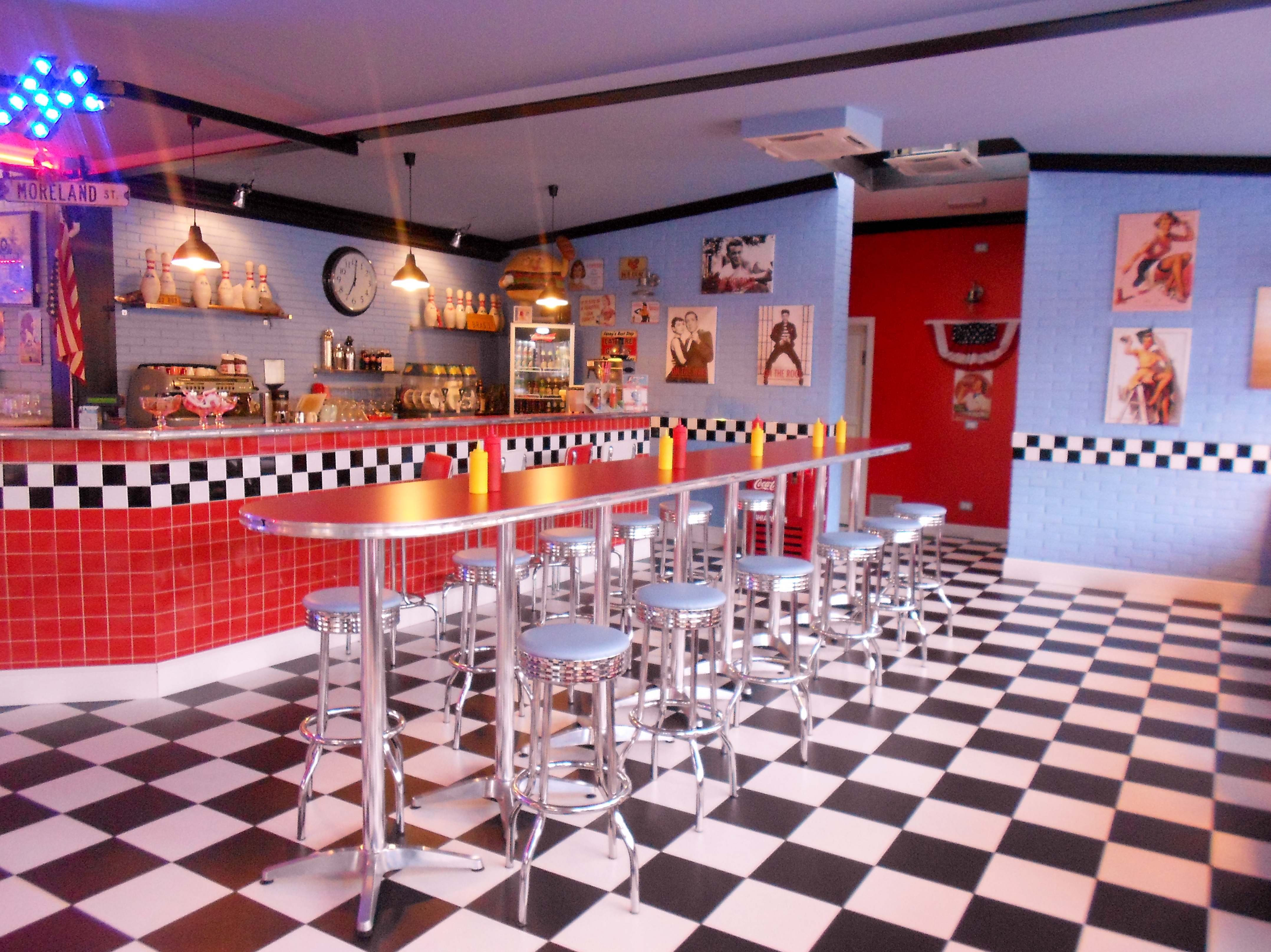 American diner wallpaper wallpapersafari for American cuisine restaurants