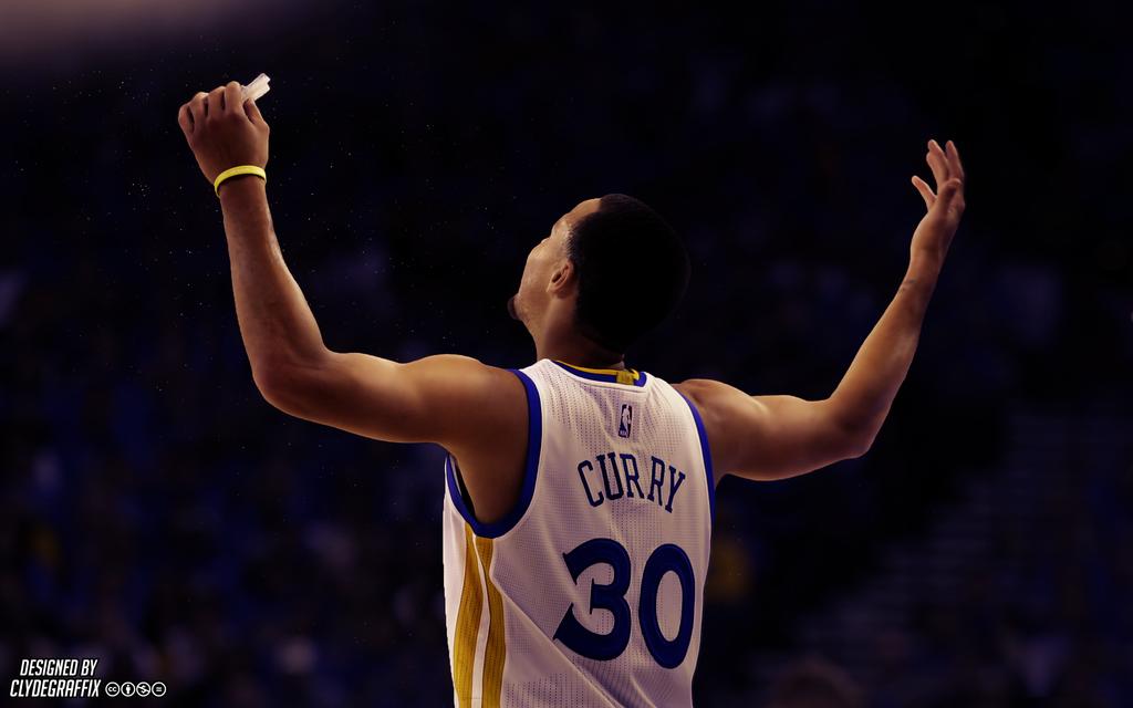 Stephen Curry Hands Up Lighting Wallpaper by ClydeGraffix on 1024x640