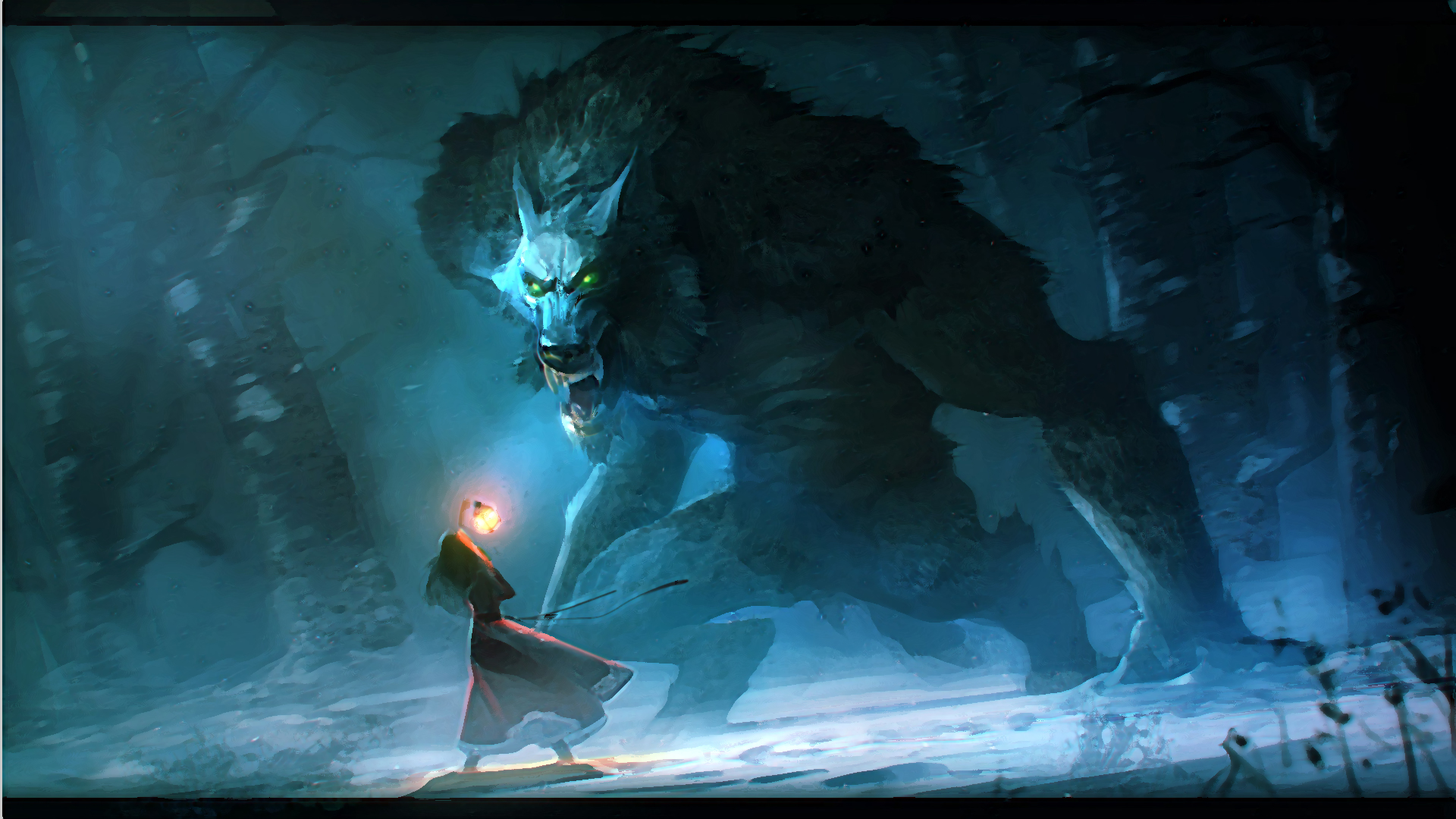 Werewolf Full HD wallpaper by Niconoff deviantart Full HD Wallpapers 1920x1080