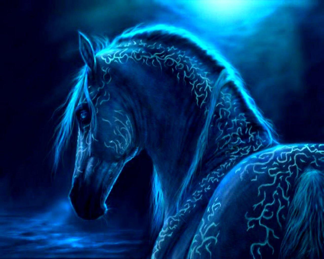 Horse Blue Magical Wallpaper 1280x1024 Full HD Wallpapers 1280x1024