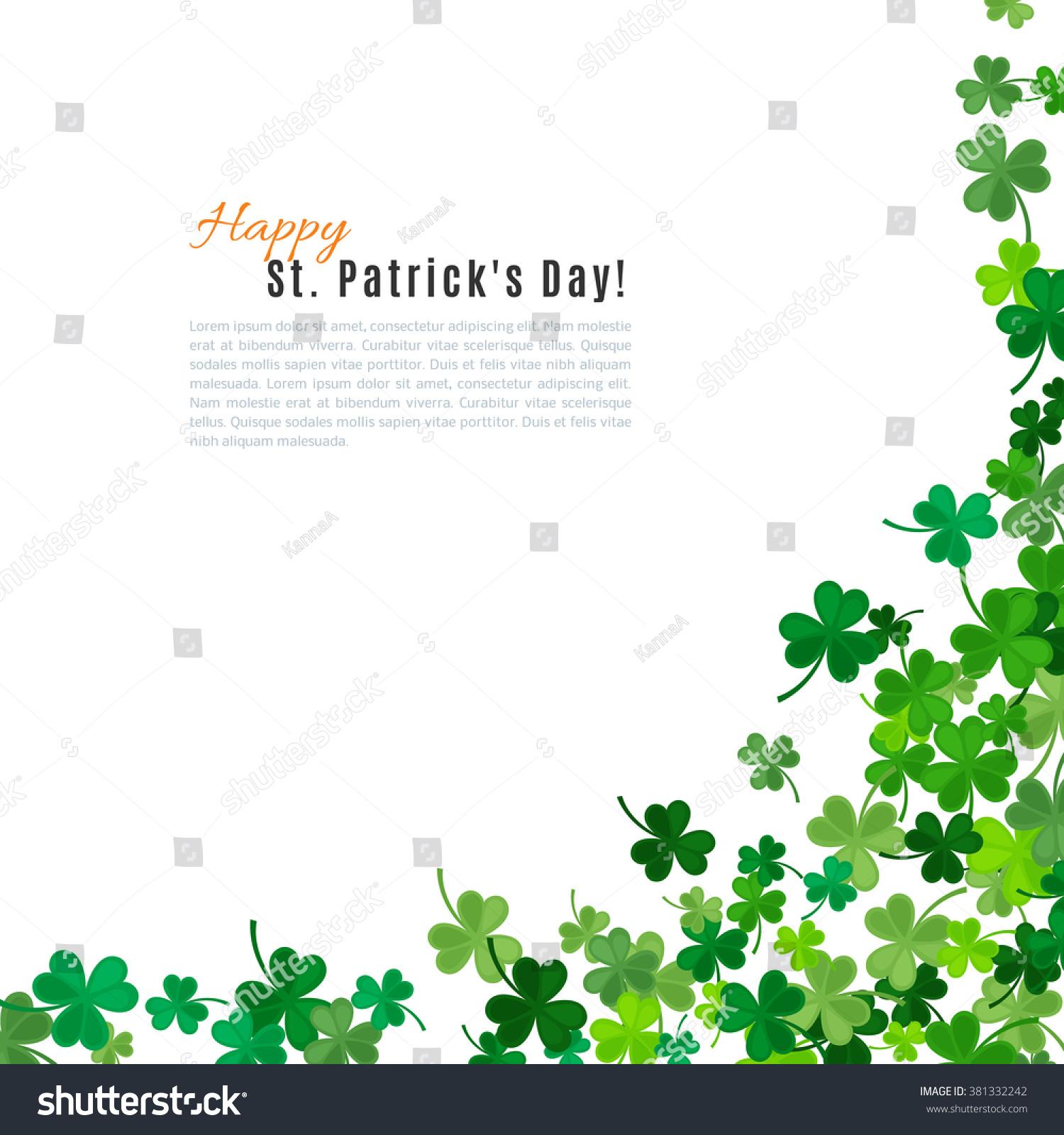 St Patricks Day Background Vector Illustration Stock 1500x1600
