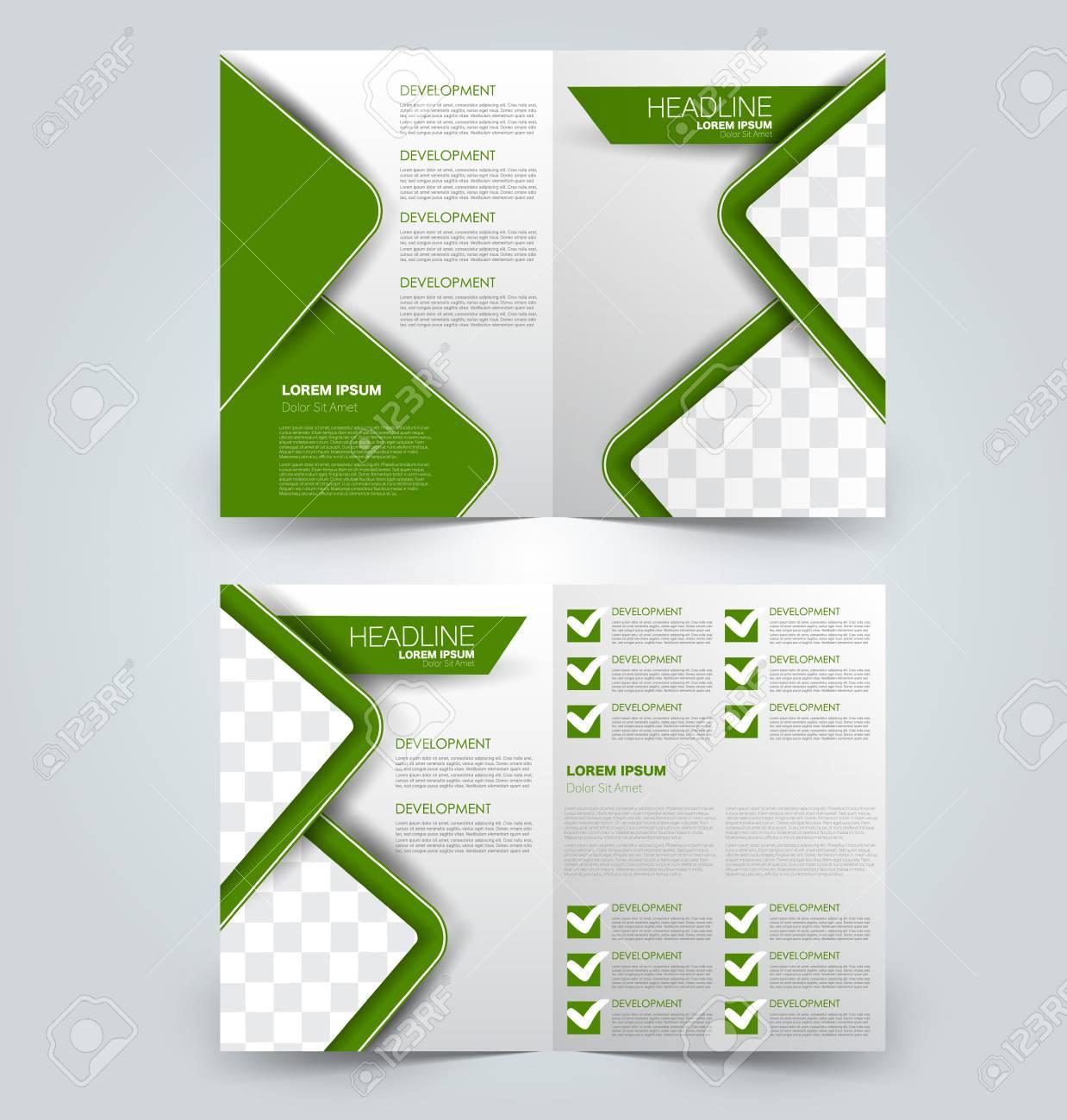 Fold Brochure Template Flyer Background Design Magazine Or 1238x1300