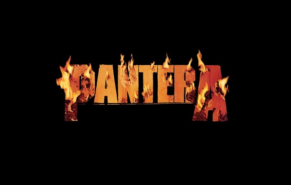 Wallpaper pantera band metal logo burning flame music wallpapers 596x380