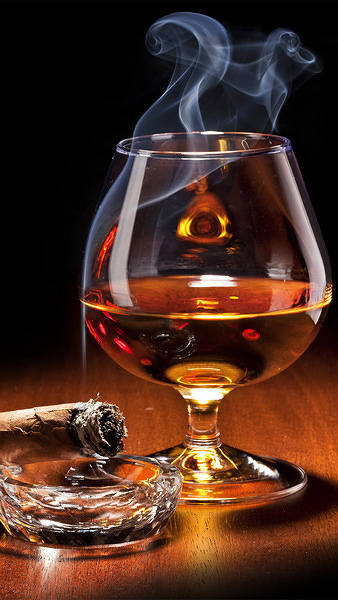 Cigar and Whiskey iPhone 6S Plus Wallpaper 338x600