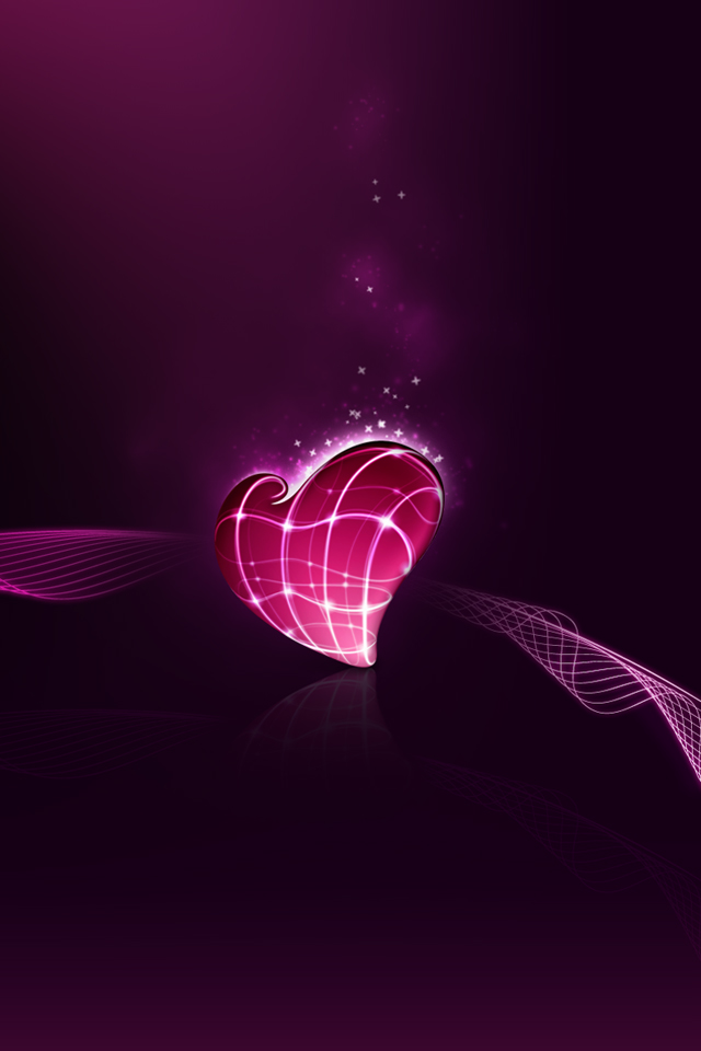 Backgrounds Pictures Photos iPhone 4 Wallpaper cute 3d heartjpg 640x960