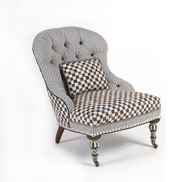 Courtly Check Underpinnings Accent Chair MacKenzie Childs   Eclectic 594x640