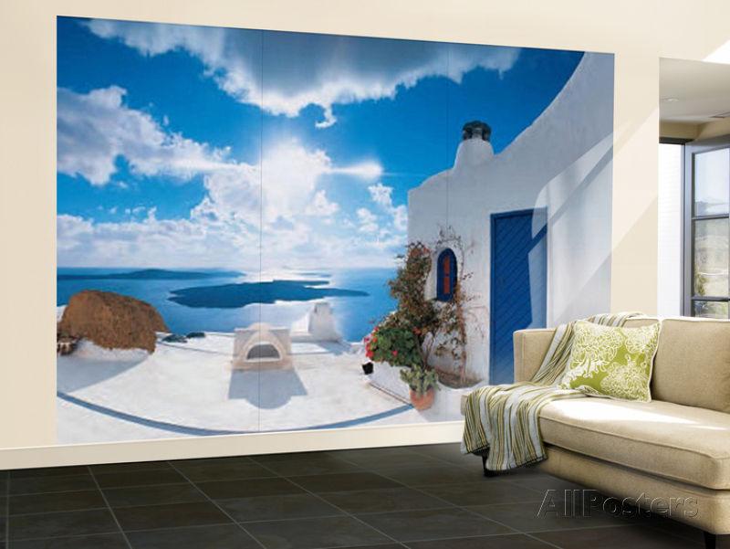 Santorini Sunset Huge Wall Mural Art Print Poster 144x100 eBay 800x601